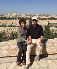 The couple make a trek to Israel almost annually.
